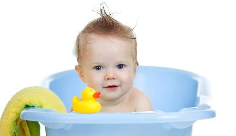 Bañera De Bebé Patas Madera