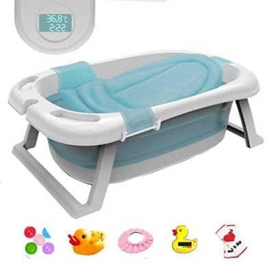 Bañera De Bebé Plegable Con Sensor…