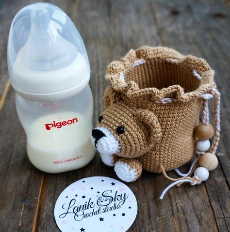 Funda Para Para Biberón A Crochet